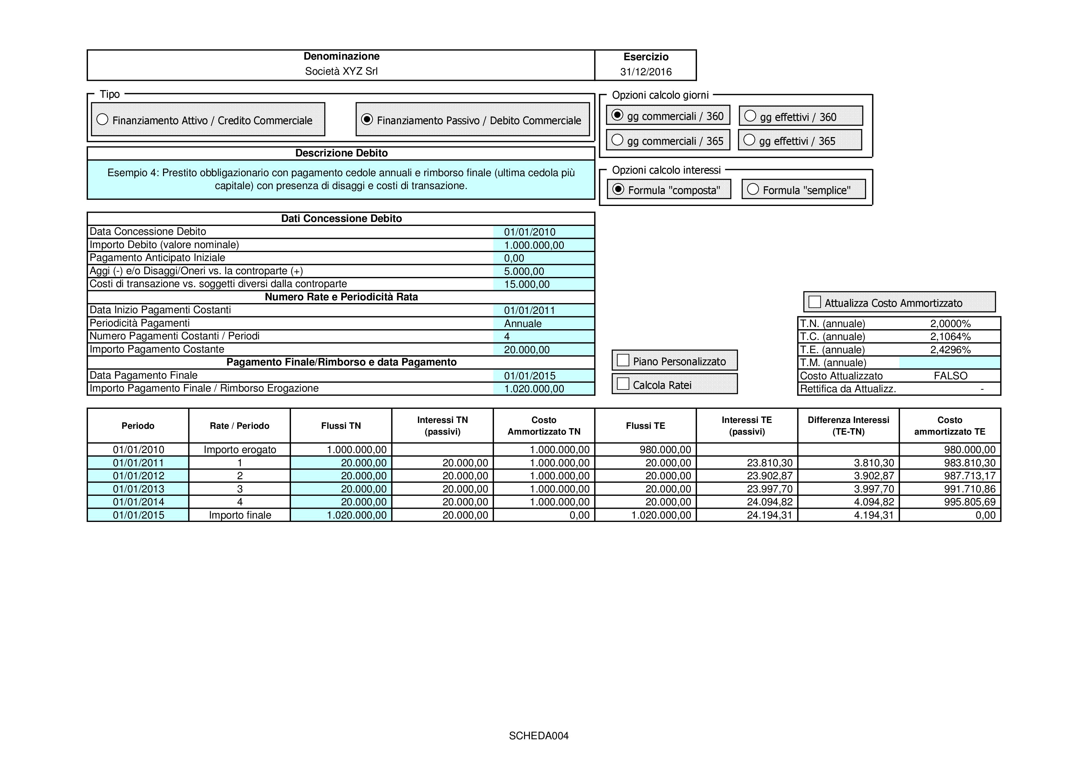 CREDITI DEBITI: valutazione costo ammortizzato 2018 - Immagine 6 / 12