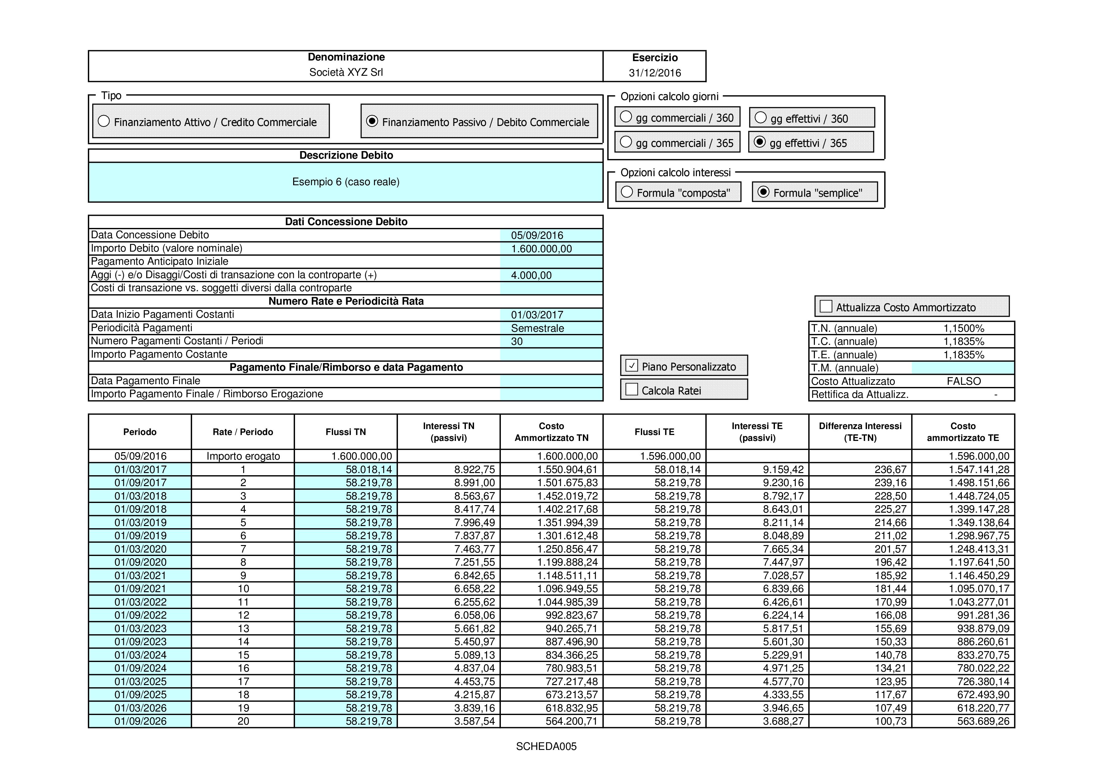 CREDITI DEBITI: valutazione costo ammortizzato 2018 - Immagine 7 / 12