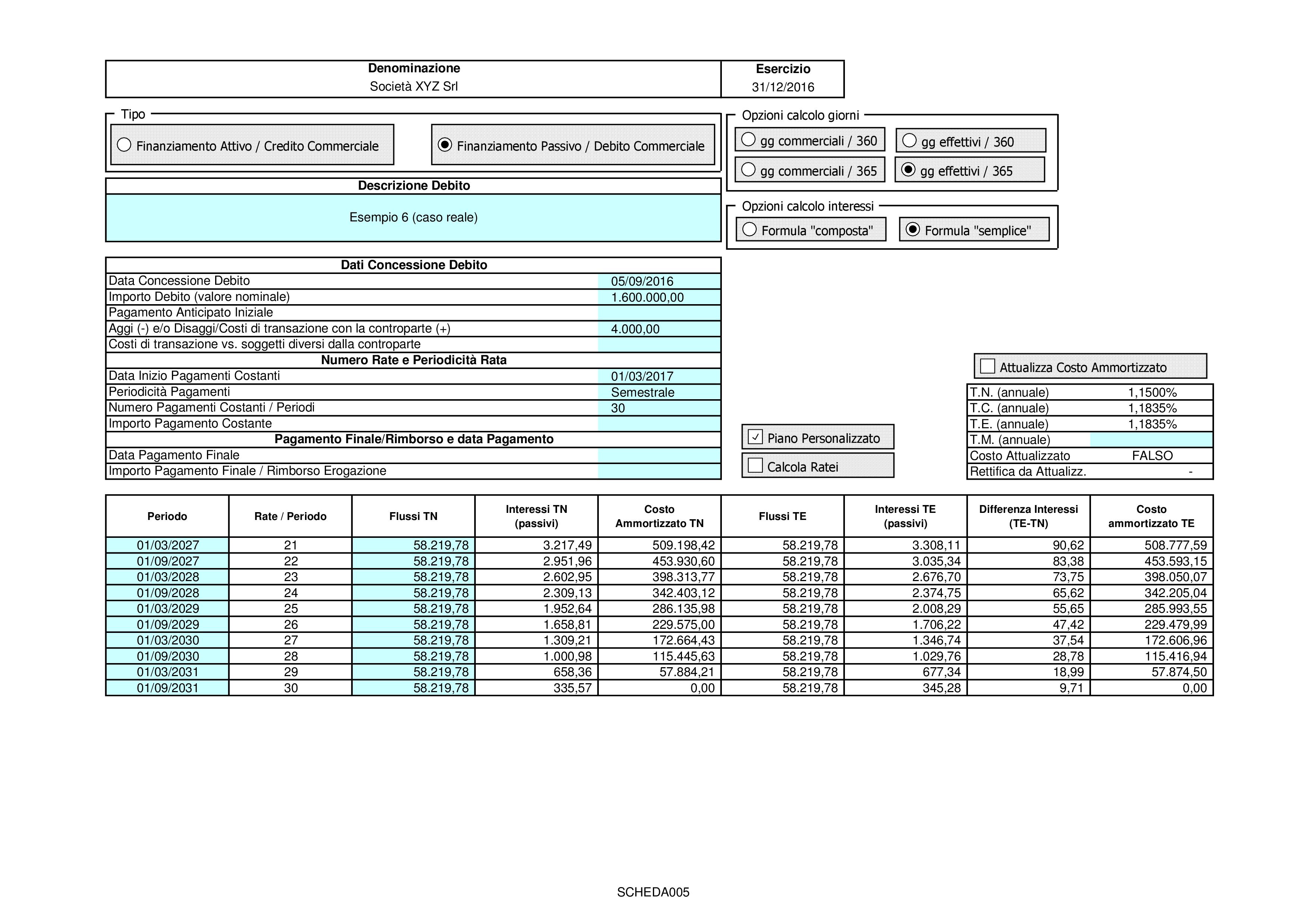 CREDITI DEBITI: valutazione costo ammortizzato 2018 - Immagine 8 / 12