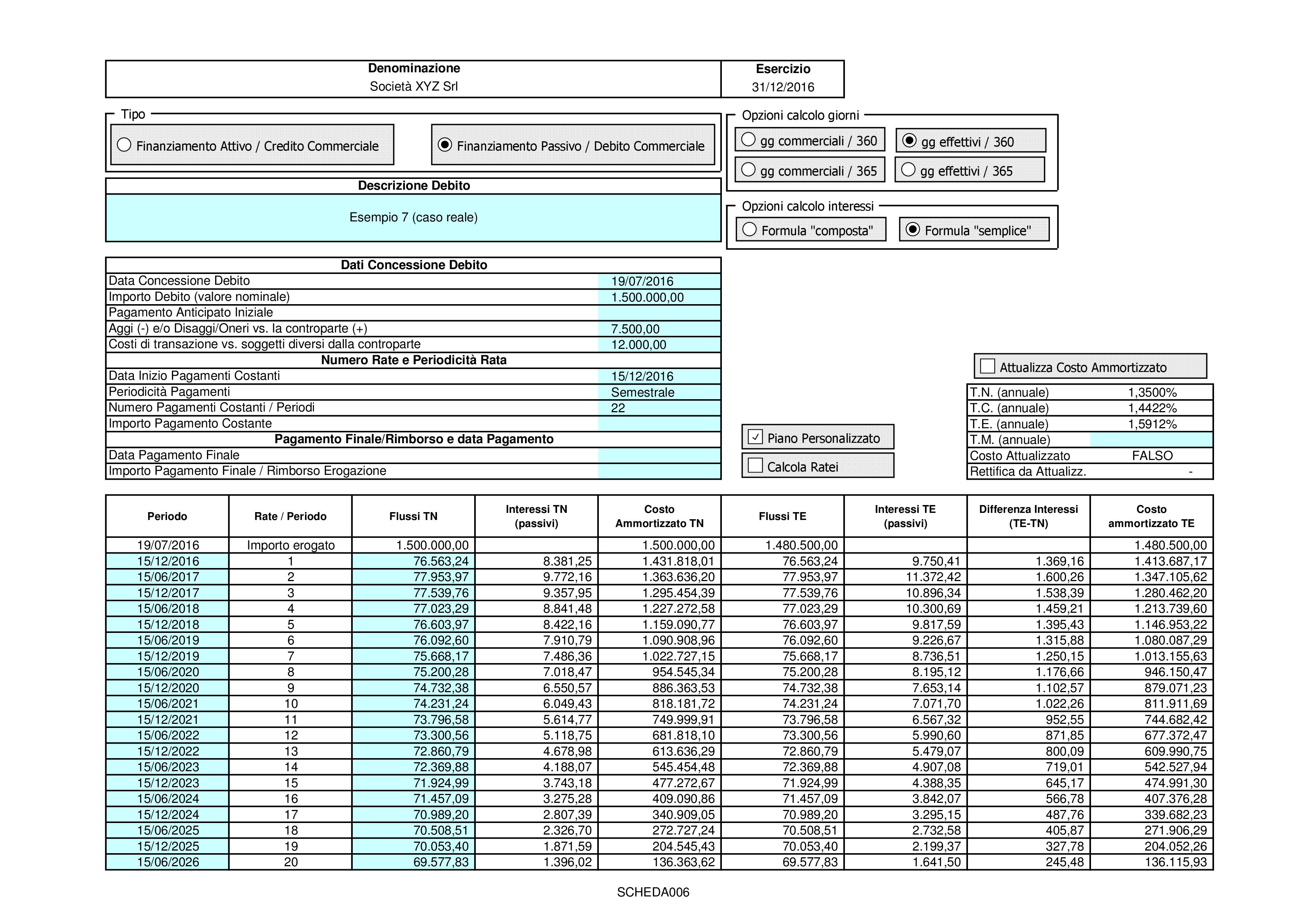 CREDITI DEBITI: valutazione costo ammortizzato 2018 - Immagine 9 / 12