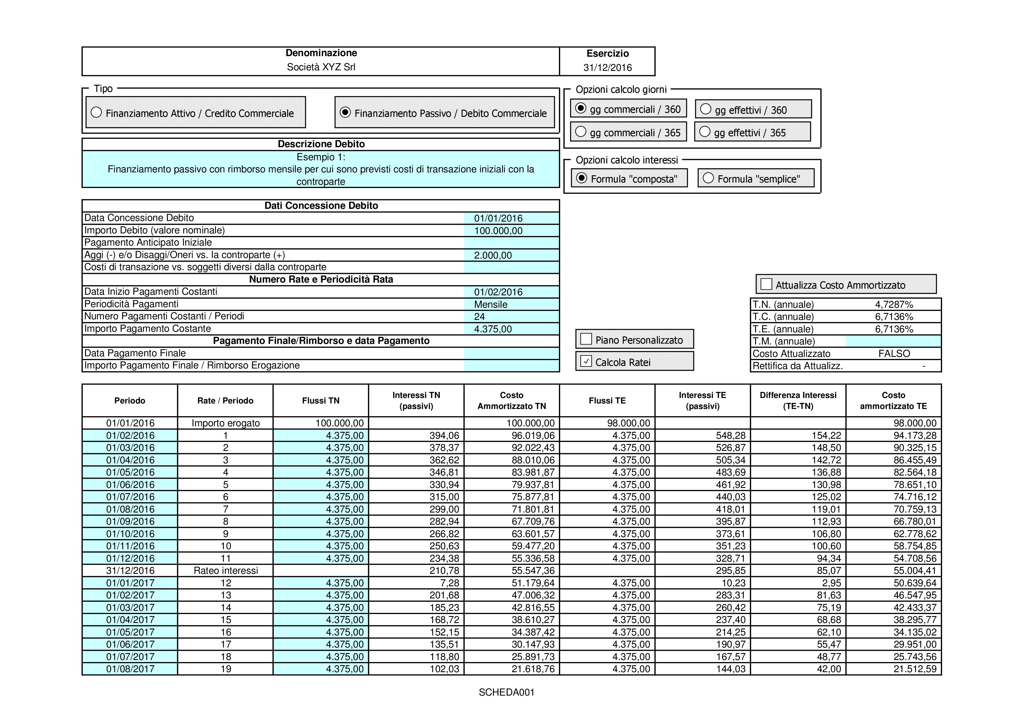 CREDITI DEBITI: valutazione costo ammortizzato 2018 - Immagine 2 / 12