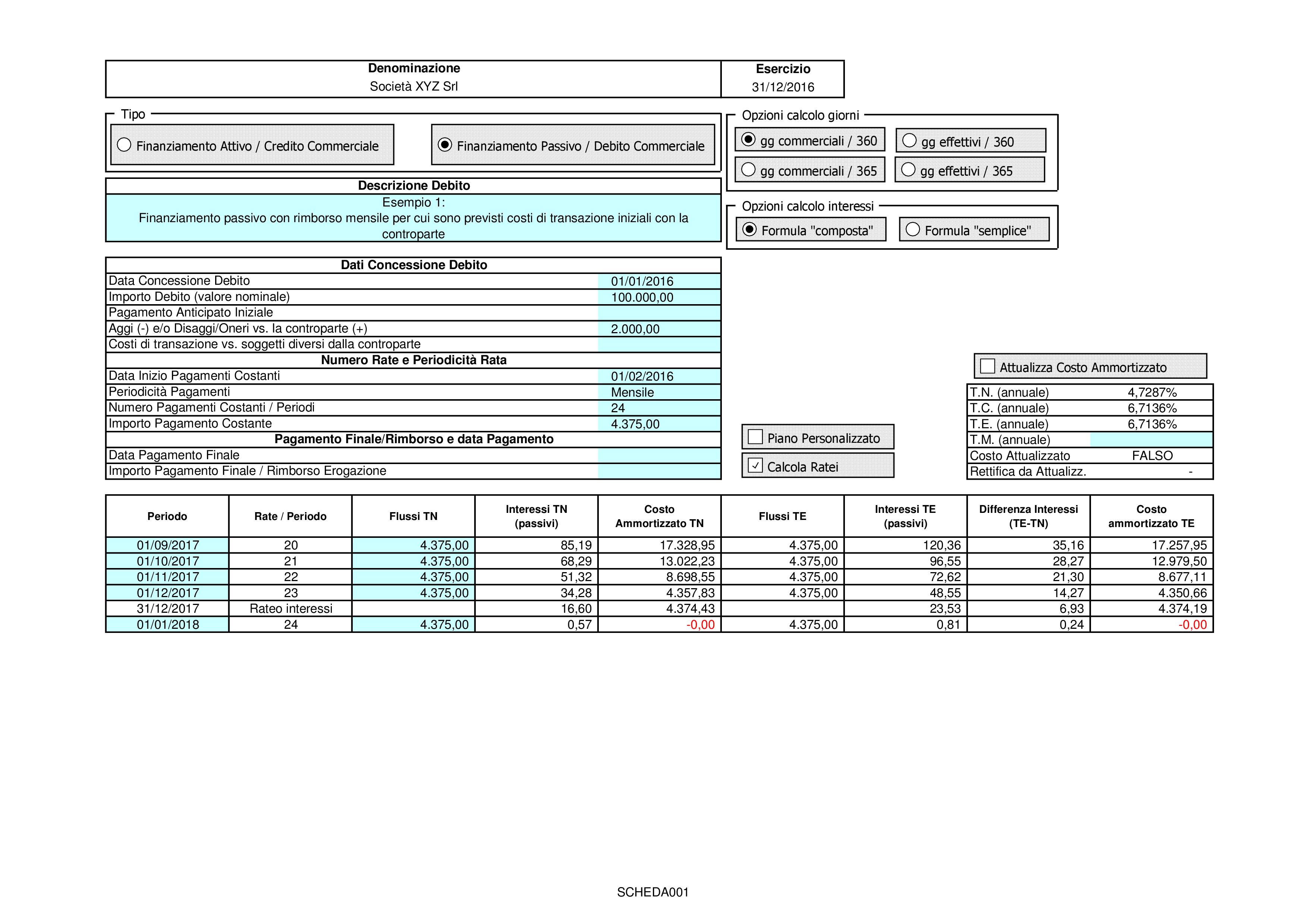 CREDITI DEBITI: valutazione costo ammortizzato 2018 - Immagine 3 / 12