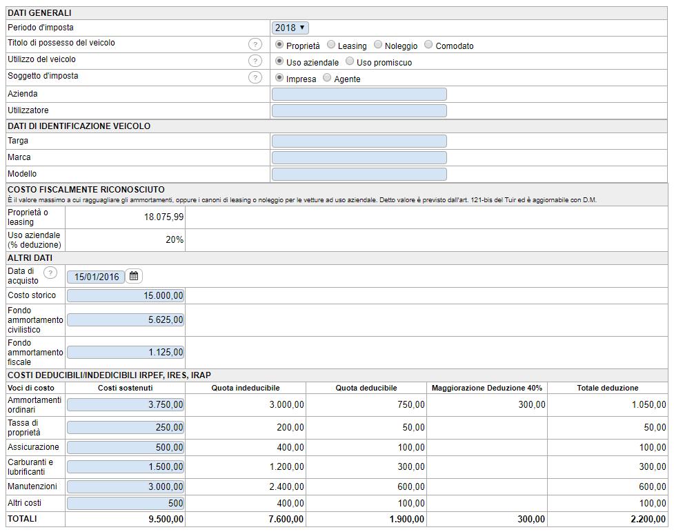 Deducibilità costi auto non strumentali: versione Cloud - Immagine 1 / 1