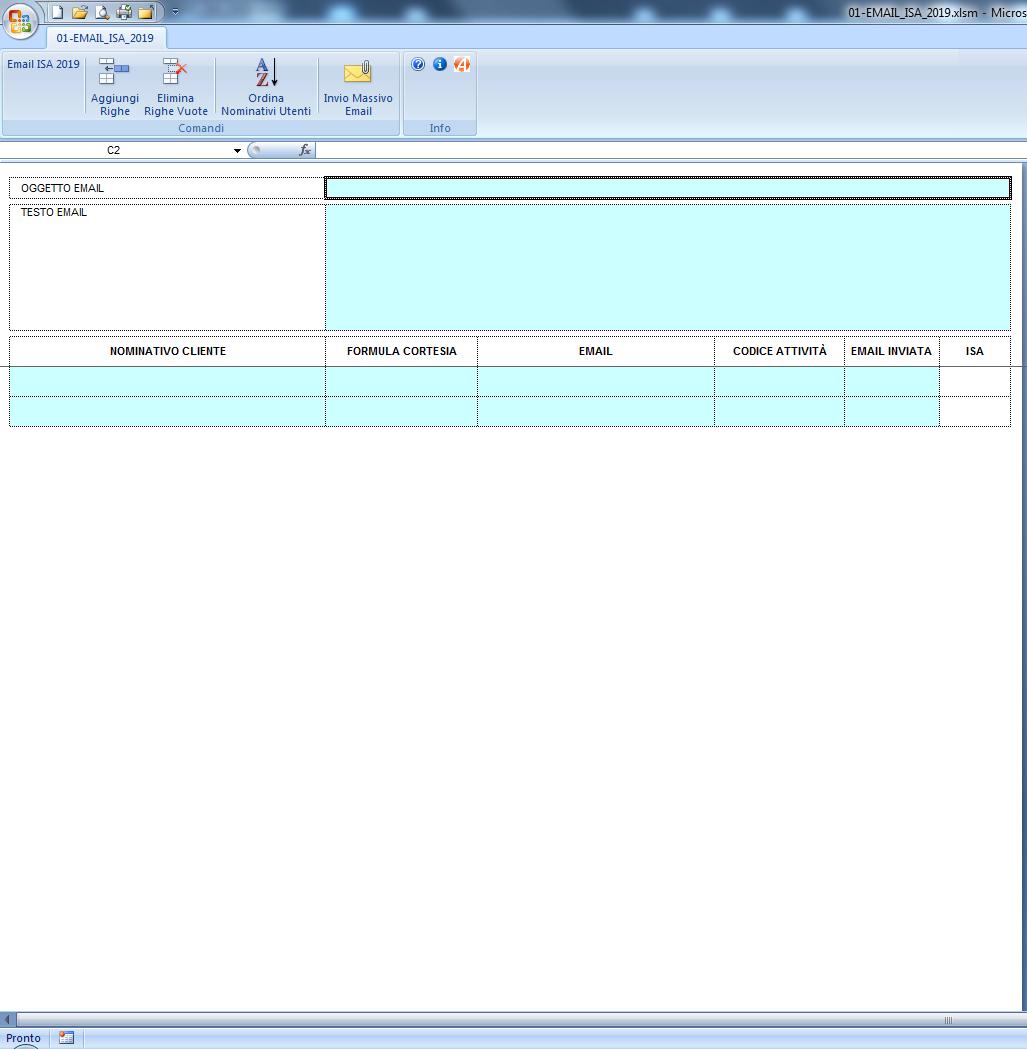 ISA 2019: invio email automatizzata di modello e istruzioni - Immagine 1 / 1