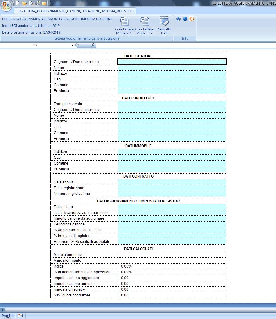 Lettera Aggiornamento Canoni Locazione e Imposta di Registro - Immagine 1 / 4