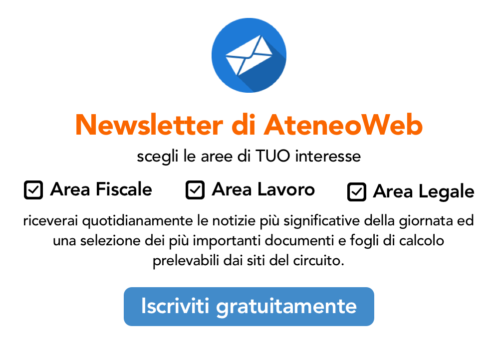Iscriviti gratuitamente alla Newsletter di AteneoWeb