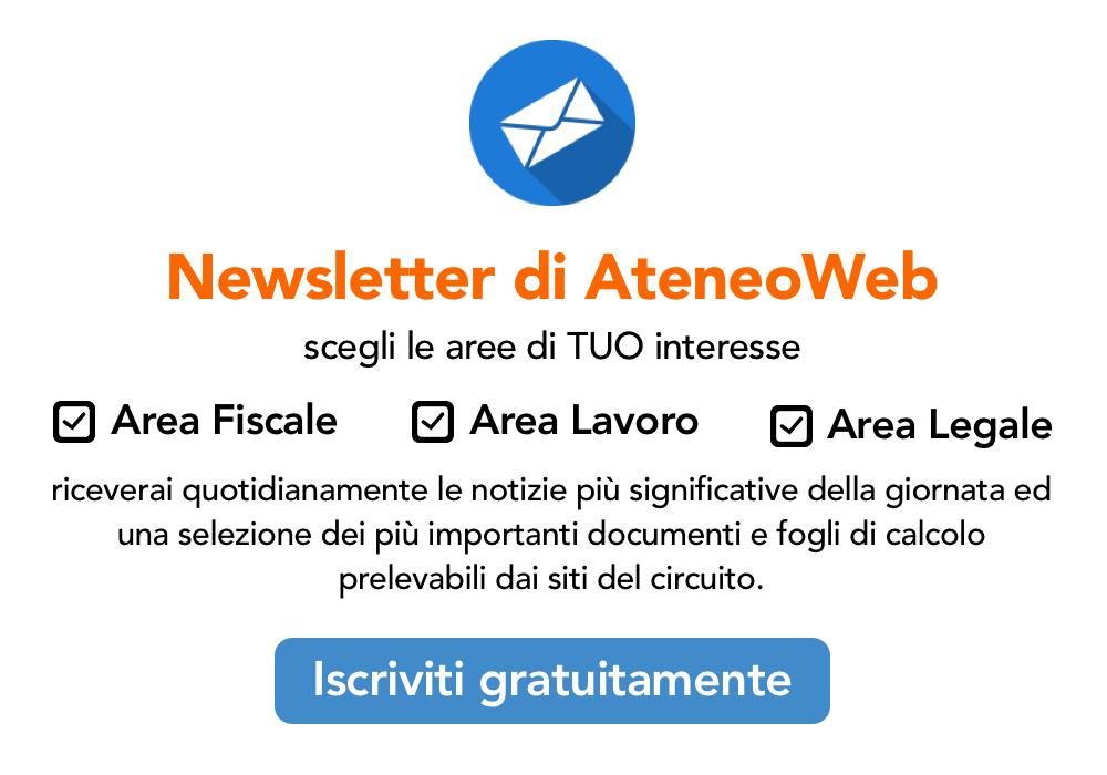 Iscriviti gratuitamente alla Newsletter di AteneoWeb